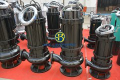 Electrical sewage pump 50 to 80 l/s at 30m head in Dubai